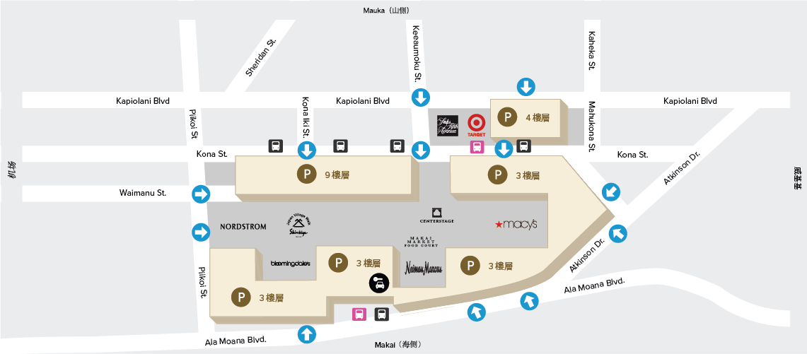 Ala Moana Parking Map